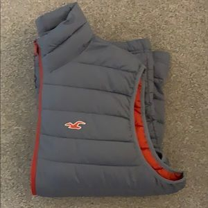 XL Hollister Gray/Orange Vest